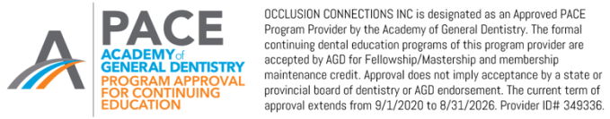AGD PACE OC Certification 2021